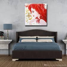 Schöne Bilder An Der Wand Moderne Leinwand Kunst Wohnkultur Schlafzimmer Wandbilder Chinesisches Mädchen ölgemälde 1 Peices No Framed