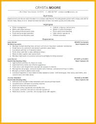 Resume For Servers 7 8 Server Experience Resume Examples Samples