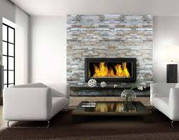 replace tile around fireplace with stone round designs