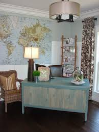how to manage special home office style vintage style home office decoration with blue brown home office