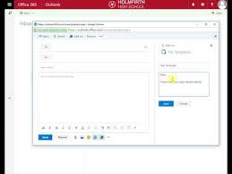 template office creating email templates in office 365 youtube