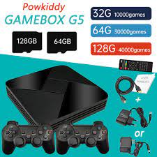 POWKIDDY G5 S905L Video Game Console WiFi 4K HD Retro TV Box Mini Game Box  Emulator Built In 10000/15000 Games For PS1/N64/DC - Hot Offer #88E07