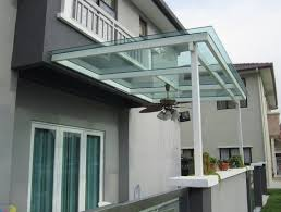 toughened glass roofing for office