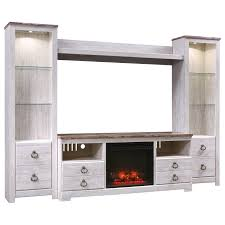 signature design by ashley willowton entertainment center with fireplace insert item number w267