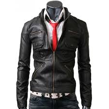 zip pocket mens jacket slim fit black leather jacket with regard to black leather coat