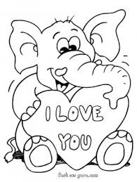 Small Picture Printable valentines day teddy elephant card coloring pages