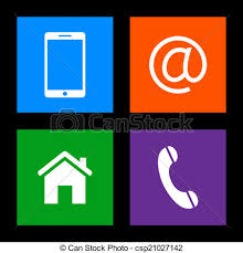 Email Buttons Contact Buttons Mobile Email Home Phone Icons