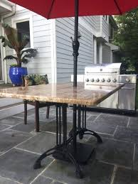 outdoor table base for granite top outdoor table base for granite top elegant custom patio within outdoor table base for granite