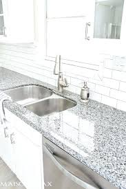 grey granite countertop what color backsplash source list for classic white kitchen