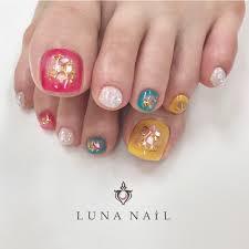 春夏海リゾートフット Lunanail133162のネイルデザインno