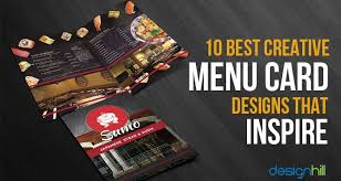 Menu Designs 10 Best Creative Menu Card Designs That Inspire