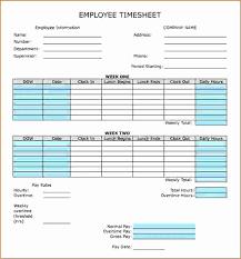 Biweekly Timesheet Template Excel Free Inspirational Bi Weekly