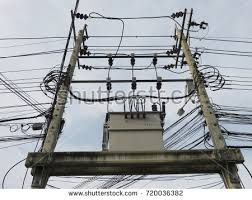 pole mounted transformer stock images, royalty free images Pole Mounted Transformers Diagrams electric pole mounted distribution transformer used to provide \