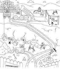 Small Picture Race Track Coloring Page Scene Sketch Coloring Page build a
