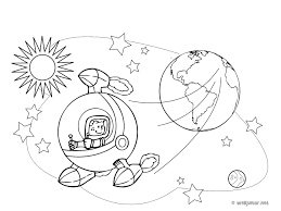 Un Homme Dans L Espace Coloriage Sciences Gratuit Sur Webjunior Dessin De La Planete Terre A Colorier L