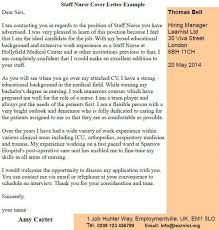 Staff Nurse Cover Letter Example Learnist Org
