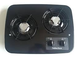 2 burner propane cooktop for boat drop in stove with oven new black suburban kitchen agreeable