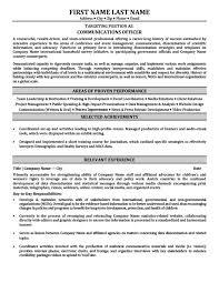 Resume Template Office Stunning Communications Officer Resume Template Premium Resume Samples