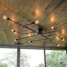 edison bulb lights industrial bulb wrought iron 8 light large led semi flush ceiling light in black edison bulb string lights canada