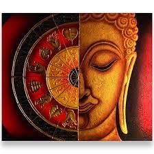 buddha wall painting art gallery