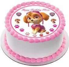 Paw Patrol Skye 2 round edible cake topper JPG grande v=