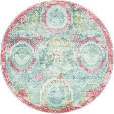 unique loom baracoa turquoise 5 5 x 5 5 round rug