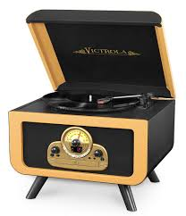 innovative technology victrola vintage center with cd player