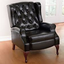 queen anne style tufted wingback recliner plus size extra large chairs seating onestopplus