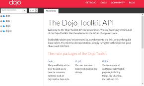Dojo Toolkit Api Overview Documentation Alternatives