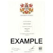 Sample Degree Certificates Of Universities Replacement Degree Certificate University Of Kent