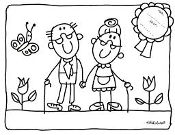 Kleurplaat Opa En Oma Kinderboekenweek 2016 Babcia I Dziadek