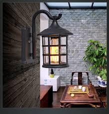 antique exterior wall lanterns. antique rustic iron waterproof outdoor wall lamp vintage kerosene lantern light rusty matte black corridor hallway exterior lanterns
