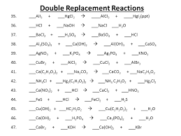 single replacement reaction worksheet balancing chemical equations presentation chemistry sliderbase template