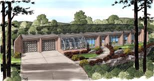 House Plan at FamilyHomePlans comClick Here to see an even larger picture  Contemporary Earth Sheltered s Retro House Plan