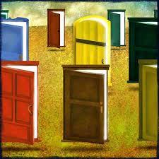 open door painting. Open Door Painting Variety Of Doors Girl At Half .  O