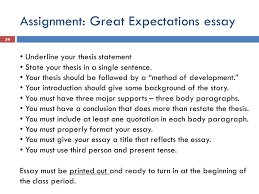 the five paragraph essay writing a literary analysis ppt  assignment great expectations essay underline your thesis statement state your thesis in a single sentence