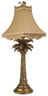 gold palm tree table lamp 2