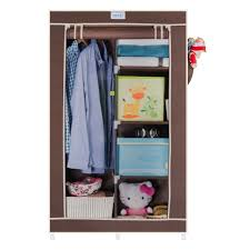 cbeeso 5 racks compact portable wardrobe cb220 brown now with 2 years warranty
