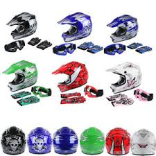 Details About Dot Youth Kids Dirt Bike Off Road Motocross Full Face Helmet Goggles Snowmobile