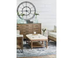 cozy living spaces include an oversized ottoman used as a coffee table our foundation ottoman coffee table has a on tufted top in a neutral ivory