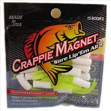 Leland Lures 87274 Crappie Magnet Body Pack White Chart 15 Pack