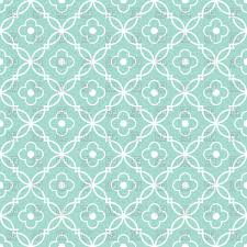 cyan and white seamless wallpaper with decorative grid vector