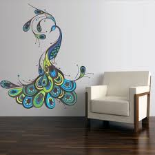 decal wall art peacock wall art