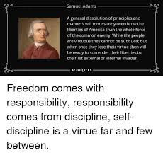 Samuel Adams A General Dissolution Of Principles And Manners Will Fascinating Samuel Adams Quotes