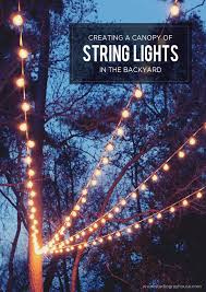 lighting pictures. a canopy of string lights in our backyard lighting pictures