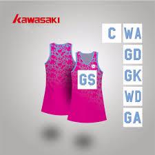 2019 Wholesale Brand Kawasaki Girls A Line Netball Dress Free Bibs Women Lycra Fabric Knee Length Plus Size Xs 4xl Practice Sports Tennis Dress From