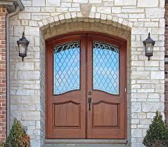 exterior wood doors with glass