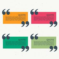 Quotation On Design Colorful Set Of Four Quotation Marks Download Free Vector Art