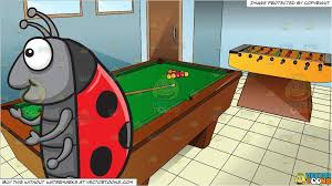 pool table clipart side view. Beautiful View Clipart Cartoon A Talking Ladybug And Gaming Room With Pool Table And  Foosball On Clipart Side View O