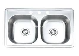 top mount stainless steel sink 16 gauge top mount stainless steel kitchen sinks